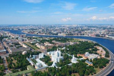 Birdseye view of Saint Petersburg
