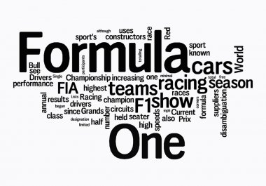 F1 text clouds