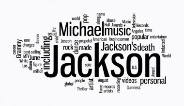 Michael jackson word clouds