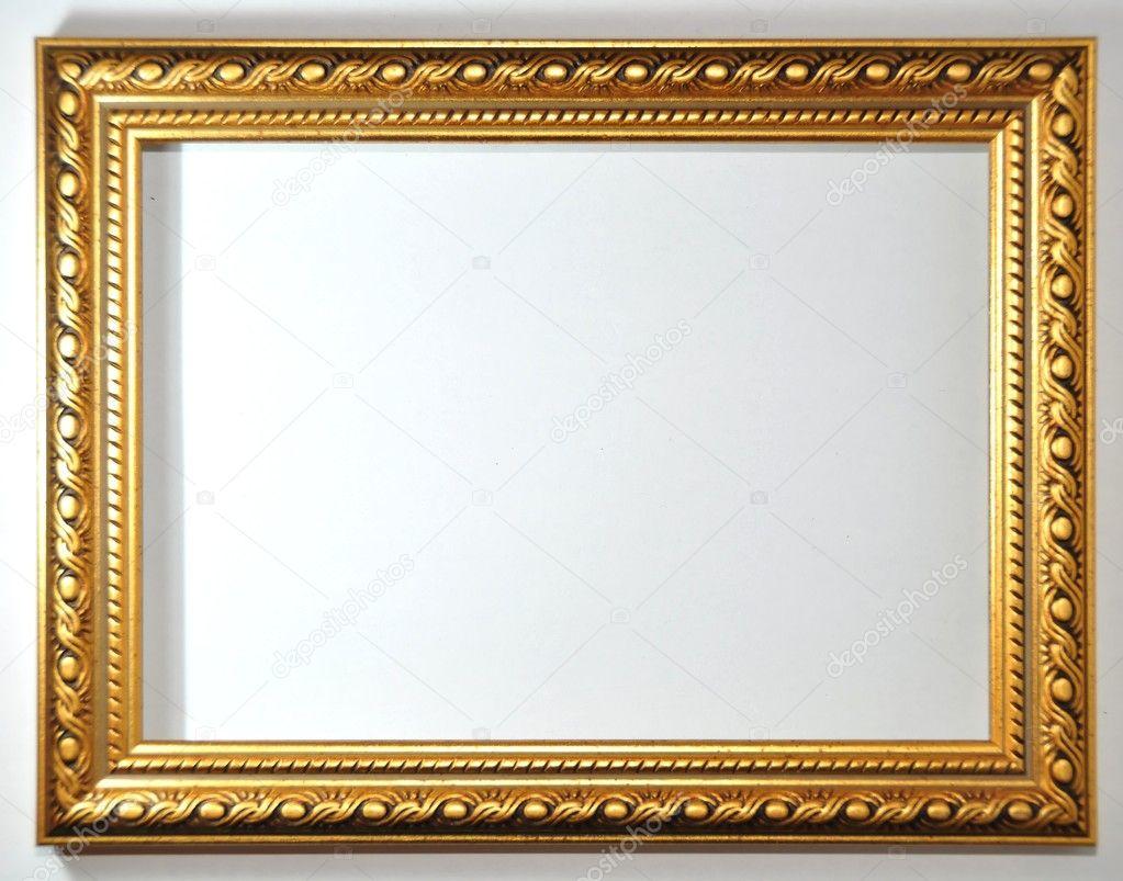 Cadre Vide cadre vide sur fond blanc — photographie arnelsr © #7893392