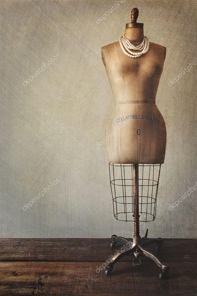 antique dress form with vintage look stock photo sandralise 7006692. Black Bedroom Furniture Sets. Home Design Ideas