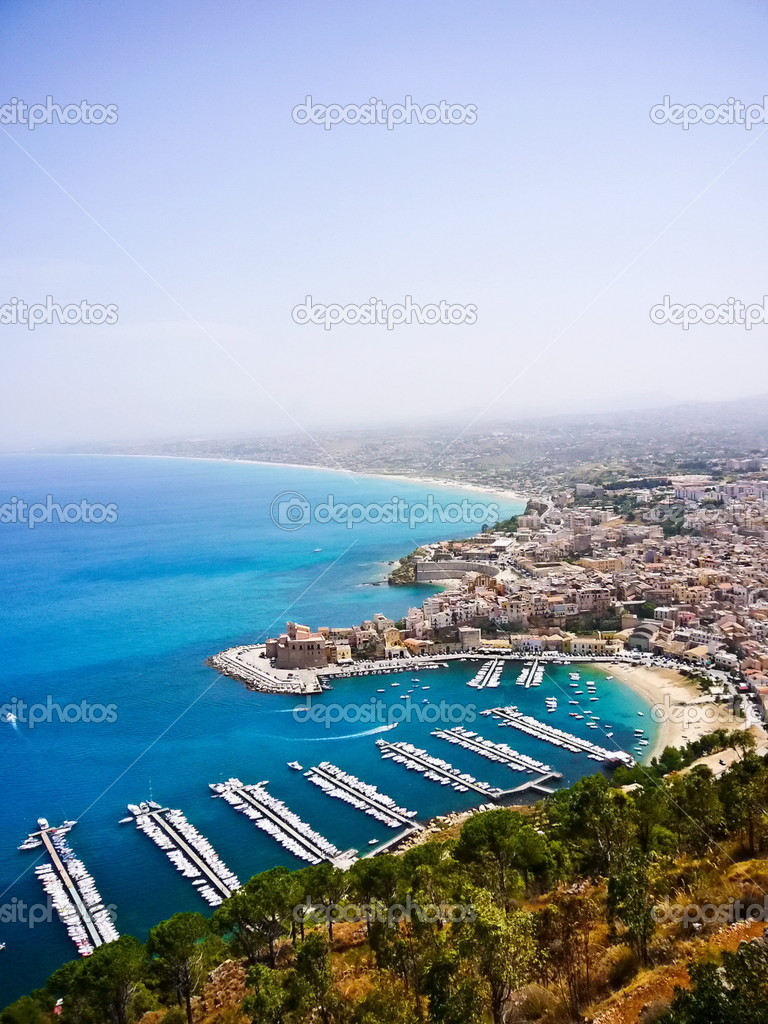 Italian sea side in Sicily