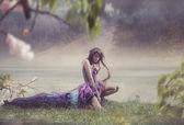 Fotografie Krása ženy v pohádkové krajině