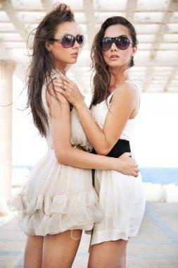 Two brunette beauties