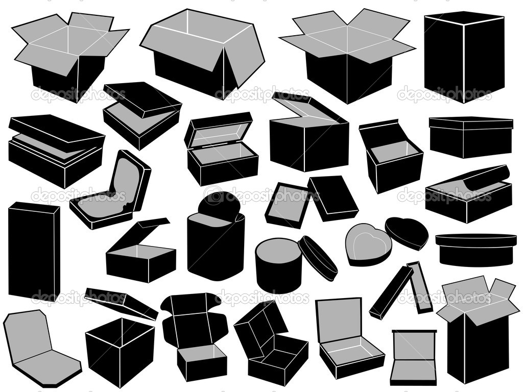 Boxes isolated