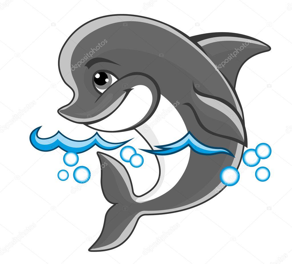 картинка для детей дельфина