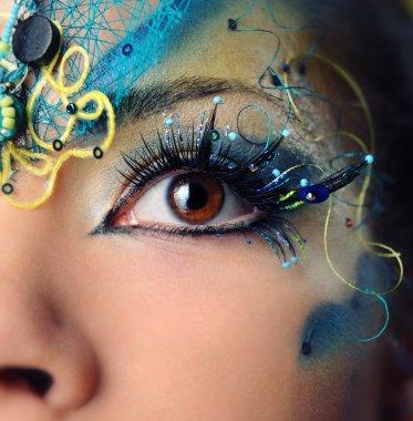 "Картина, постер, плакат, фотообои ""красивый макияж глаз крупным планом "", артикул 7941353"