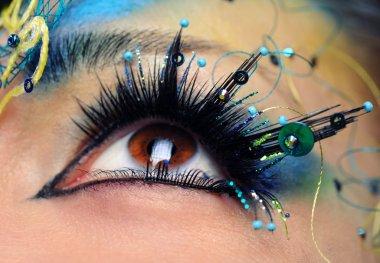 Beautiful eye make-up close-up