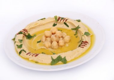The traditional Middle Eastern hummus