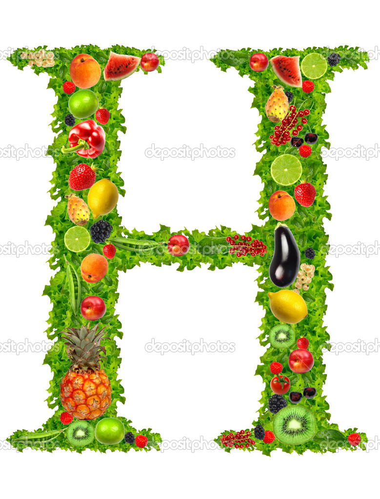 fruit and vegetable letter h u2014 stock photo kesu01 7795172