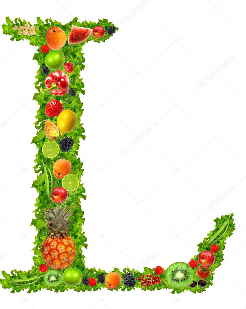 fruit and vegetable letter l u2014 stock photo kesu01 7795190
