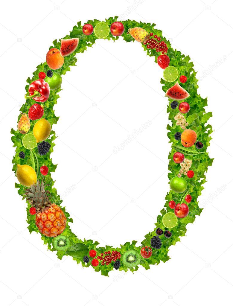 fruit and vegetable letter o  u2014 stock photo  u00a9 kesu01  7795212