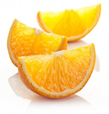 Orange slice on a white background.