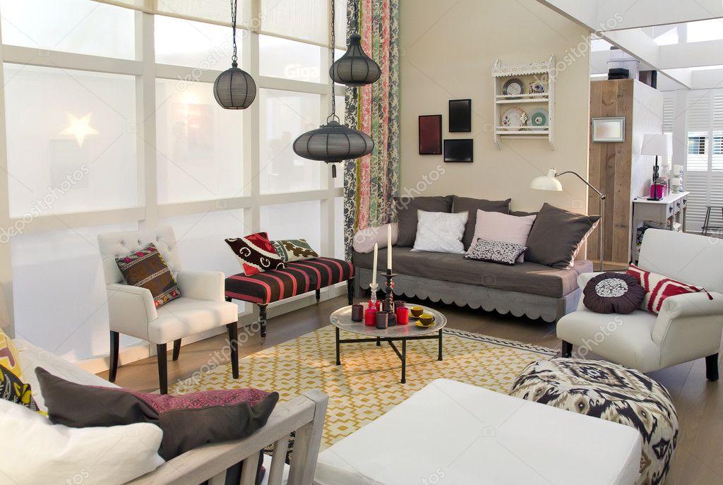 woonkamer in landelijke stijl — Stockfoto © araraadt #7886236