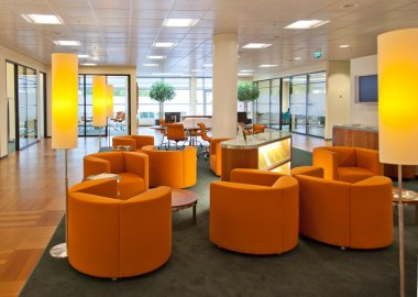 Public space in bank office