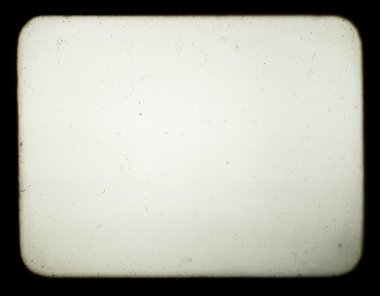 Snapshot of a blank screen of old slide projector, suited to ach