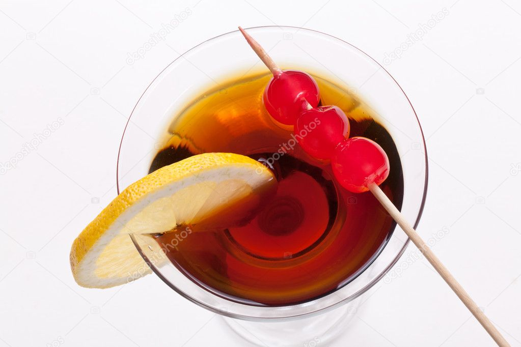 Vermouth and cherries