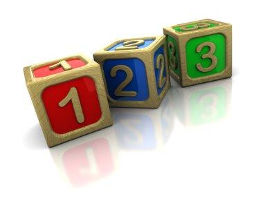 Wooden blocks count