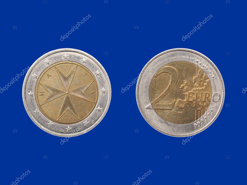 Euro Münze Aus Malta Stockfoto 7804318