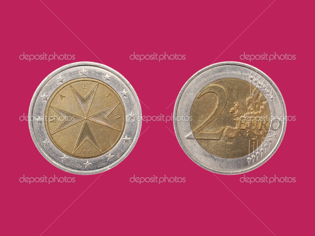 Euro Münze Aus Malta Stockfoto Claudiodivizia 7888804