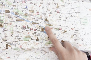 Finger in the map