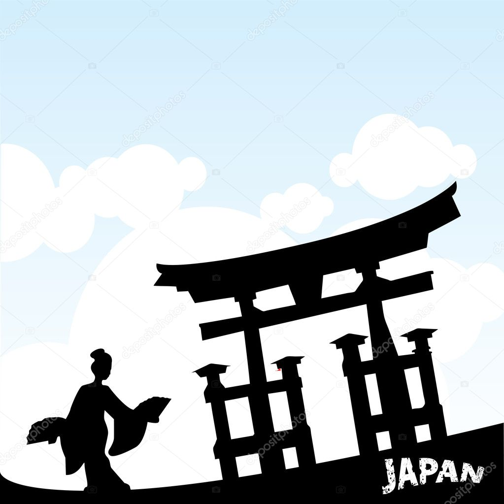 japanese style stock vector emirsimsek 6957392 vector illustration of a japanese style architectural heritage vector by emirsimsek