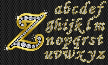 Golden alphabet, letters from A to Z