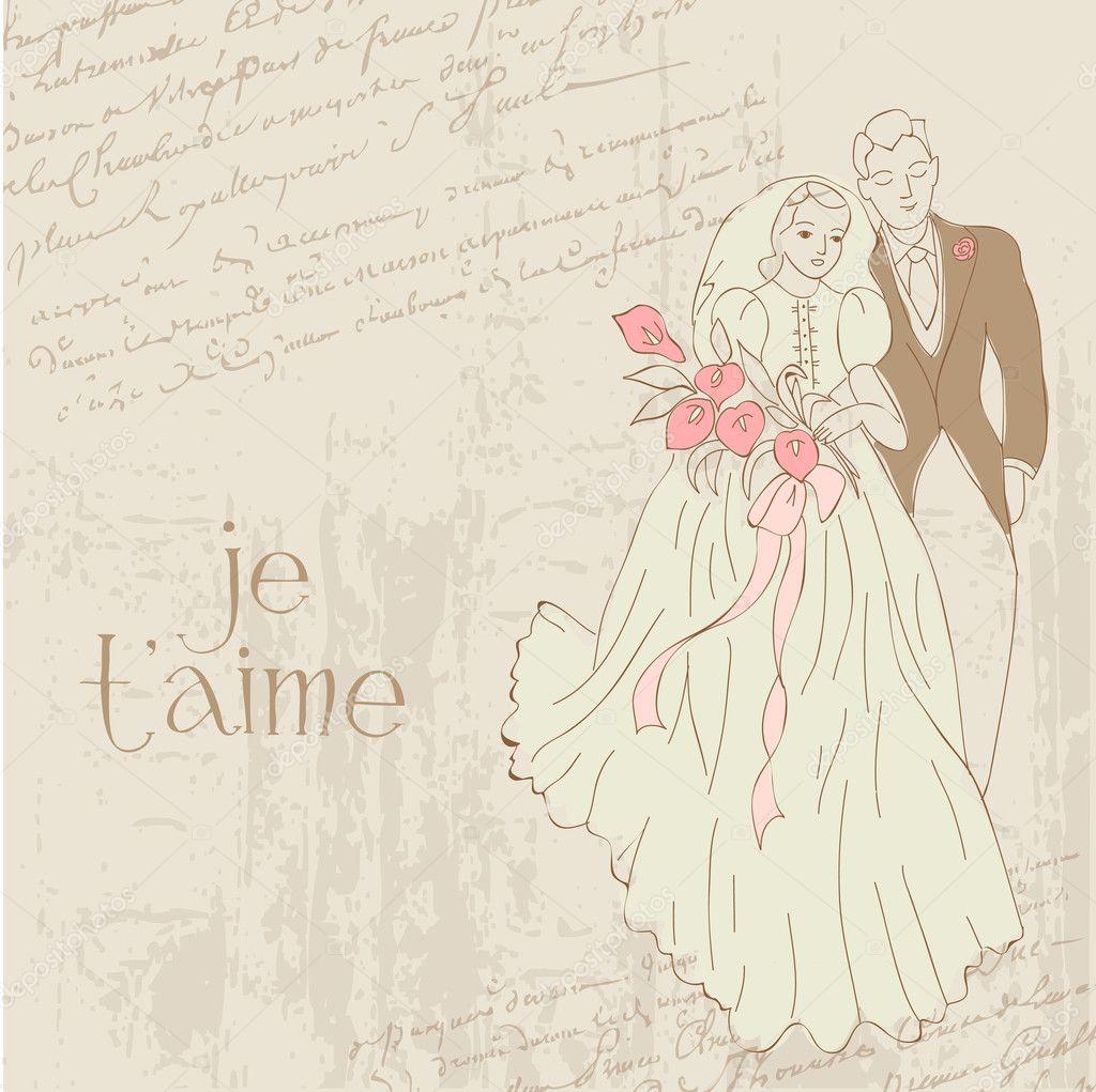 Vintage Hochzeit Karte Fur Design Einladung Gratulation