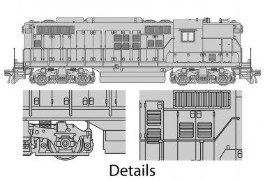 GP9-558 locomotive