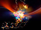 barevné abstraktní burst