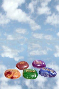 Five heavenly affirmation stones