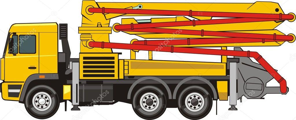 Mobile Concrete Pump Stock Vector 169 Kokandr 7596732