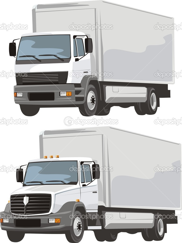 Two delivery lorry