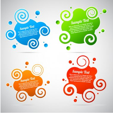 Colorful abstract speech bubble template collection