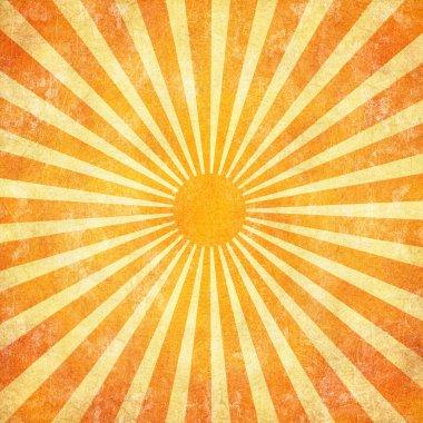 Grunge sunrays background