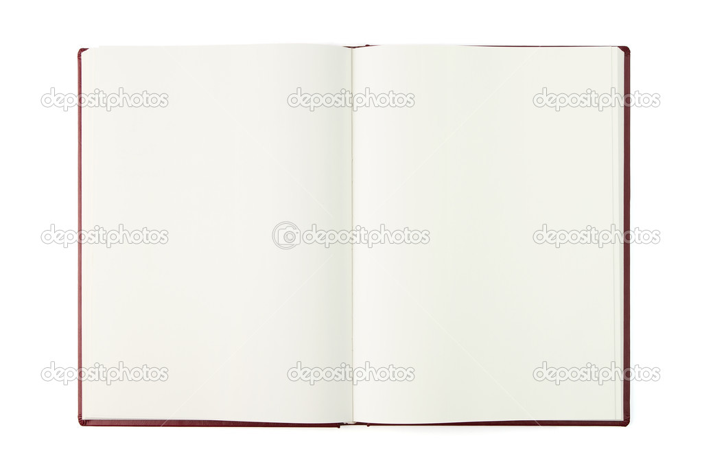 Ouvert Le Livre Blanc Avec Un Trace De Detourage