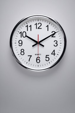 Clock hanging on the wall