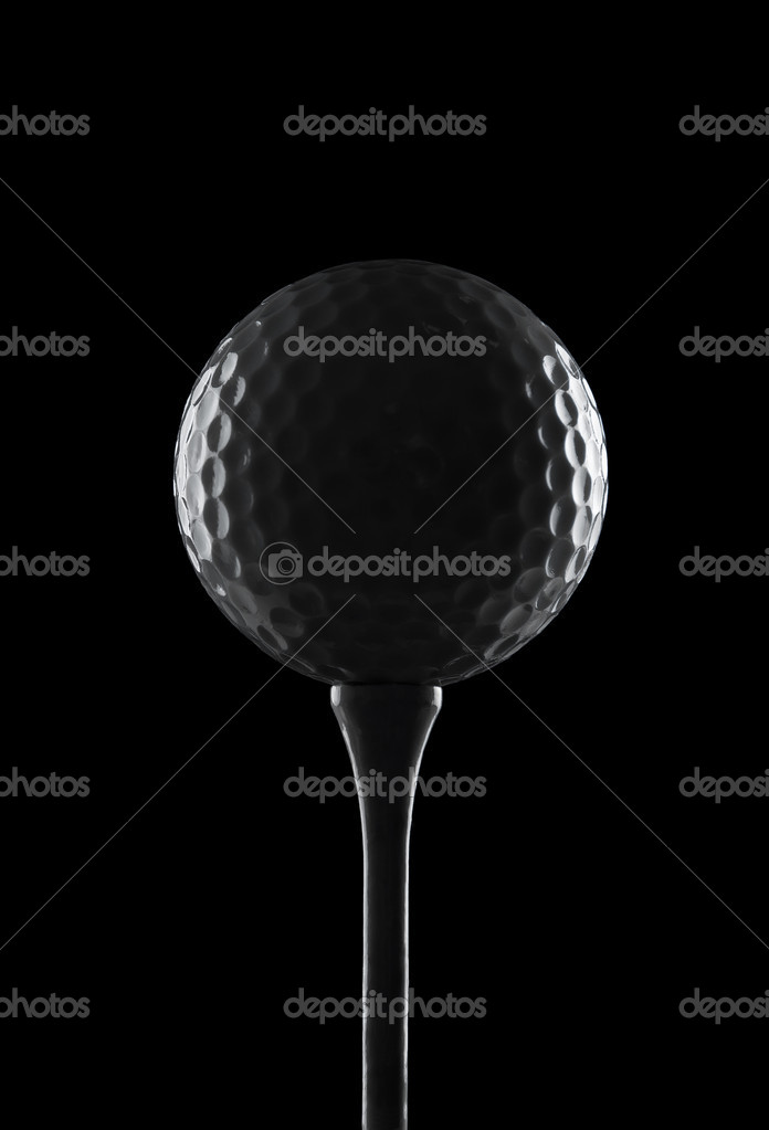 Silhouette Of A Golf Ball On A Tee With Copy Space Stock Photo C Rangizzz 7285682