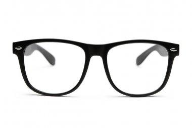 Nerd glasses on white