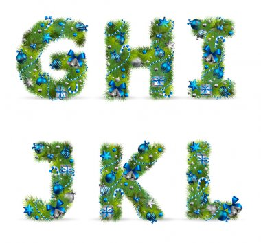 christmas tree font