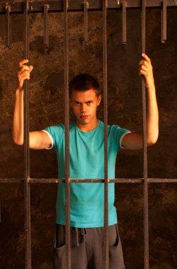 Man behind the bars