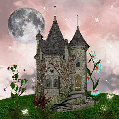 Fairy tale series - fantasy palace stock vector