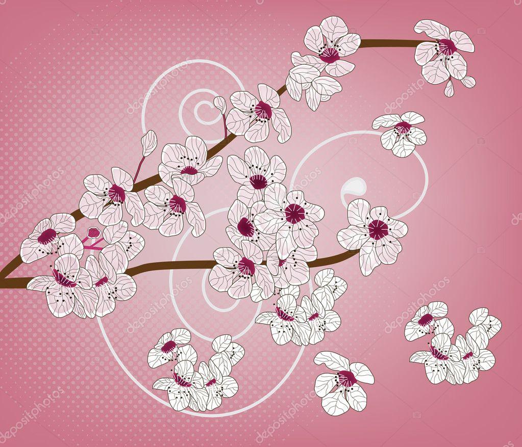 Cherry blossom - artistic branch