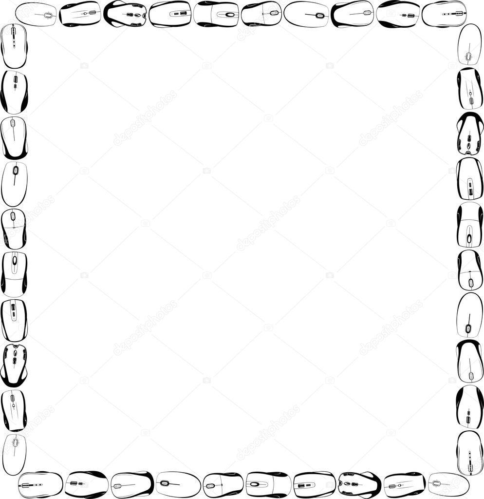 moderne Computer-Maus-frame — Stockvektor © Den.Barbulat #7375663