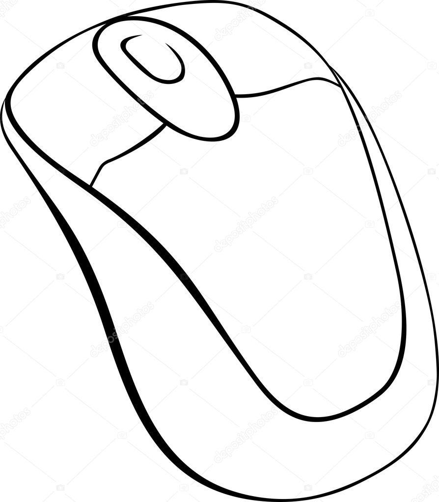 Imágenes Mouse De Computadora Para Colorear Ratón De La