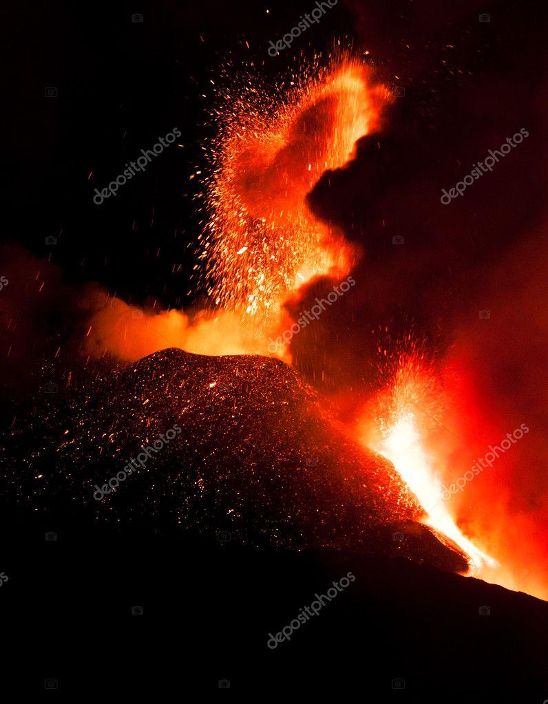 Eruption of Mount Etna
