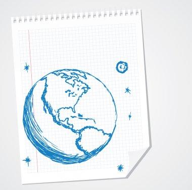 North America Vector Doodle