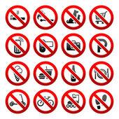 nastavení ikony zakázané symboly vývěsními