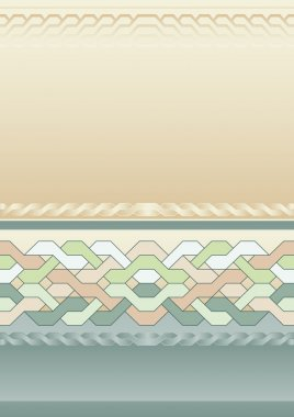 Vintage background with braided pattern