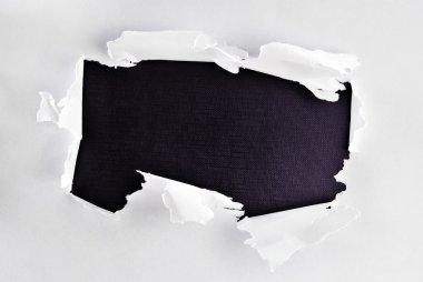 Breakthrough paper hole.